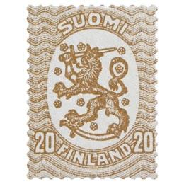 Malli 1917 Saarinen ruskea postimerkki 0