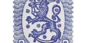 Malli 1917 Saarinen sininen / sininen postimerkki 2 markka