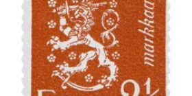 Malli 1930 Leijona karmiini postimerkki 2