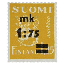 Malli 1930 Leijona keltainen postimerkki 1