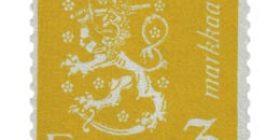 Malli 1930 Leijona keltainen postimerkki 3 markka