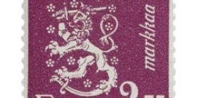 Malli 1930 Leijona lila postimerkki 2
