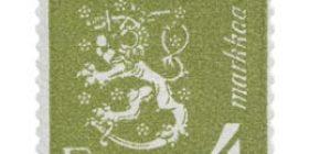 Malli 1930 Leijona oliivi postimerkki 4 markka