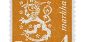 Malli 1930 Leijona oranssi postimerkki 1