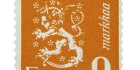 Malli 1930 Leijona oranssi postimerkki 9 markka