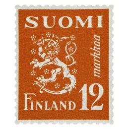 Malli 1930 Leijona punainen postimerkki 12 markka