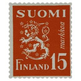 Malli 1930 Leijona punainen postimerkki 15 markka