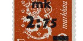 Malli 1930 Leijona punainen postimerkki 2