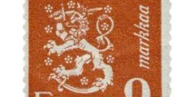 Malli 1930 Leijona punainen postimerkki 9 markka