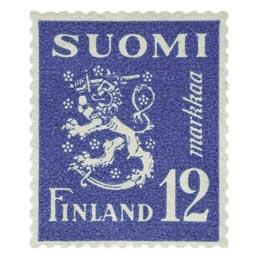 Malli 1930 Leijona sininen postimerkki 12 markka