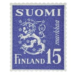 Malli 1930 Leijona sininen postimerkki 15 markka