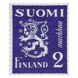 Malli 1930 Leijona sininen postimerkki 2