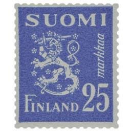 Malli 1930 Leijona sininen postimerkki 25 markka