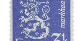 Malli 1930 Leijona sininen postimerkki 3