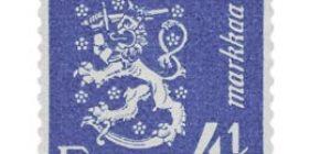 Malli 1930 Leijona sininen postimerkki 4