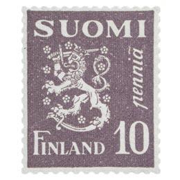 Malli 1930 Leijona violetti postimerkki 0