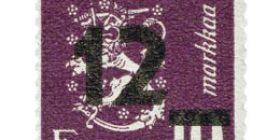 Malli 1930 Leijona violetti postimerkki 12 markka