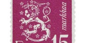 Malli 1930 Leijona violetti postimerkki 15 markka