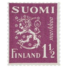 Malli 1930 Leijona violetti postimerkki 1