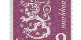 Malli 1930 Leijona violetti postimerkki 2 markka