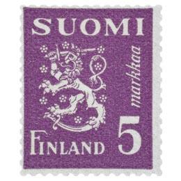 Malli 1930 Leijona violetti postimerkki 5 markka