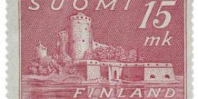 Malli 1930 Olavinlinna lila postimerkki 15 markka