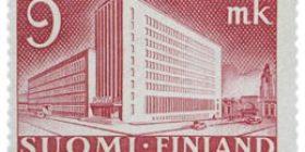 Malli 1930 Postitalo karmiininlila postimerkki 9 markka