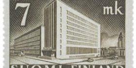 Malli 1930 Postitalo mustanruskea postimerkki 7 markka