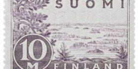 Malli 1930 Saimaa harmaanvioletti postimerkki 10 markka
