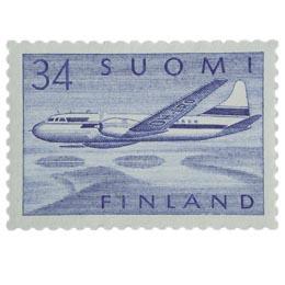 Malli 1954 Convair sininen postimerkki 34 markka