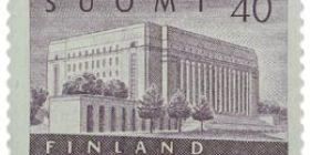 Malli 1954 Eduskuntatalo violetti postimerkki 40 markka
