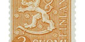 Malli 1954 Leijona oranssi postimerkki 3 markka