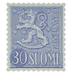 Malli 1954 Leijona sininen postimerkki 30 markka