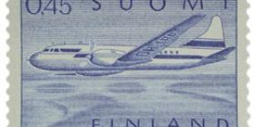Malli 1963 Convair sininen postimerkki 0