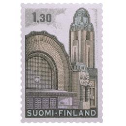 Malli 1963 Helsingin Rautatieasema  postimerkki 1