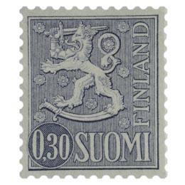 Malli 1963 Leijona harmaa postimerkki 0