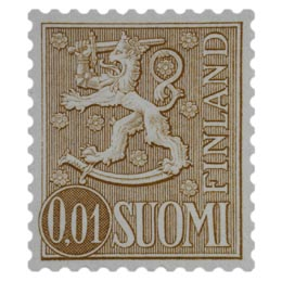 Malli 1963 Leijona ruskea postimerkki 0
