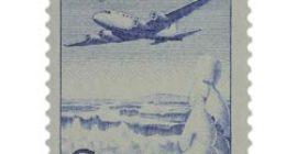 Malli 1963 Lentokone sininen postimerkki 3 markka