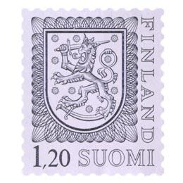 Malli 1975 Vaakuna harmaa postimerkki 1
