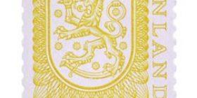 Malli 1975 Vaakuna keltainen postimerkki 1