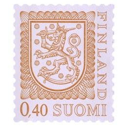 Malli 1975 Vaakuna oranssi postimerkki 0