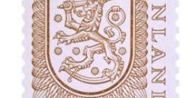 Malli 1975 Vaakuna ruskea postimerkki 1 markka