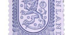 Malli 1975 Vaakuna sininen postimerkki 0