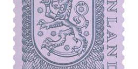 Malli 1975 Vaakuna turkoosi postimerkki 1