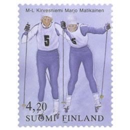 Marja-Liisa Kirvesniemi ja Marjo Matikainen  postimerkki 4