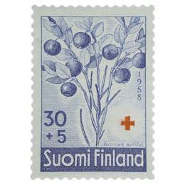 Marjoja - Mustikka sininen postimerkki 30 markka