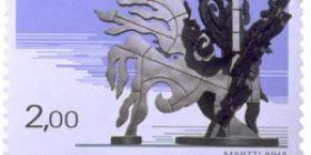 Martti Aiha - Rumba  postimerkki 2 markka