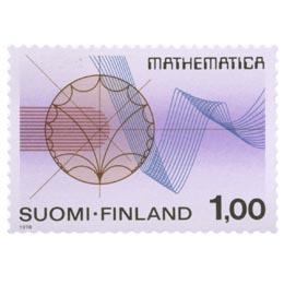Matematiikka  postimerkki 1 markka