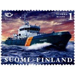 Merellinen Pohjola - Vartiolaiva Merikarhu  postimerkki 1 luokka