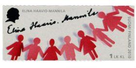 Merkkinaisia - Elina Haavio-Mannila  postimerkki 1 luokka